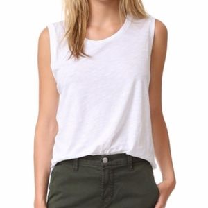 Madewell Whisper Cotton Crewneck Muscle Tank White